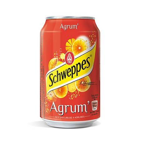 Schweppes agrumes canette 33 cl