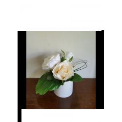 composition de deux roses